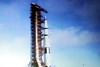 Scenes From The Video Presentation Of the Apollo Moon Rocket Launch Shown In the Apollo Launch Control Center6 006