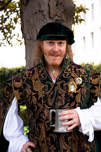 Eric Dunn is in Elizabethan Dress at Shakespeare's Birthday Open House at the Folger Shakespeare Library, located on Capitol Hill in Washington, DC. on April 25, 2010. (Photo by Jeff Malet)