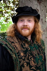 Declan Dufrain is in Elizabethan Dress at Shakespeare's Birthday Open House at the Folger Shakespeare Library, located on Capitol Hill in Washington, DC. on April 25, 2010. (Photo by Jeff Malet)