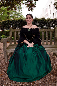 Raquel Martinez is in Elizabethan Dress at Shakespeare's Birthday Open House at the Folger Shakespeare Library, located on Capitol Hill in Washington, DC. on April 25, 2010. (Photo by Jeff Malet)