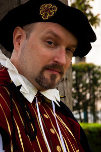 Henry Kenyon is in Elizabethan Dress at Shakespeare's Birthday Open House at the Folger Shakespeare Library, located on Capitol Hill in Washington, DC. on April 25, 2010. (Photo by Jeff Malet)