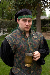 Justin Loy is in Elizabethan Dress at Shakespeare's Birthday Open House at the Folger Shakespeare Library, located on Capitol Hill in Washington, DC. on April 25, 2010. (Photo by Jeff Malet)