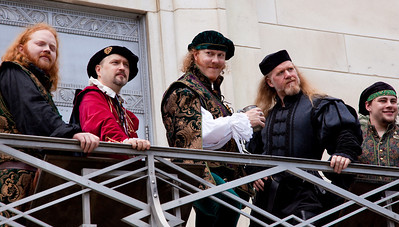 Actors in Elizabethan Dress at Shakespeare's Birthday Open House at the Folger Shakespeare Library, located on Capitol Hill in Washington, DC. on April 25, 2010. (Photo by Jeff Malet)