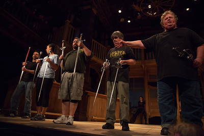"""The Pen is Mightier"" stage combat with Brad Waller in the Folger Theatre"