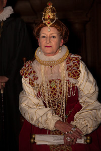 Queen Elizabeth I portrayed by Penelope Rahming.