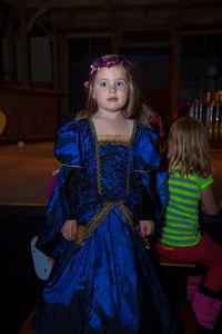Alissa (age 5) of Arlington poses in the Folger Theatre