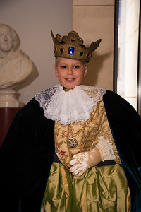 Nick (age 9) posses as king