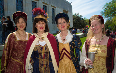 Ladies Charlotte, Martha, Kathy, Phyllis are members of the Seraphim Renaissance Singers