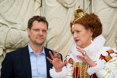 Dr. Michael Witmore, Director Folger Shakespeare Library. Queen Elizabeth I portrayed by Penelope Rahming.