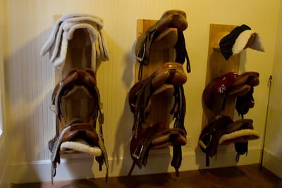 Saddles ready to go