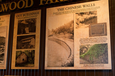 Chinese laborers built the stone retaining walls that permitted the leveled off space for the buildings.