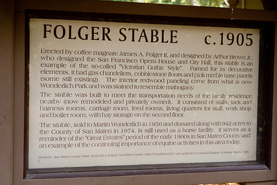 This explanatory sign gives some history of the stable.