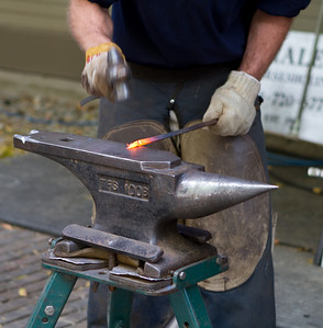 A blacksmith demo was going on when we arrived.