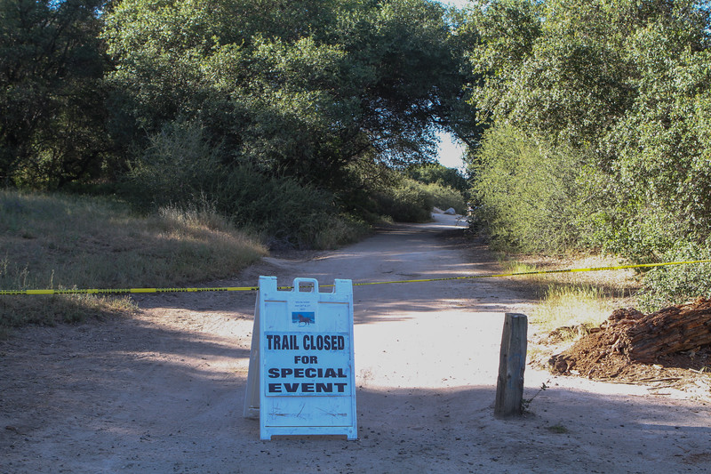 The Park crew at Granite Bay in Folsom Lake State Recreation Area did a nice job of setting off some space for the Trail Trials event.