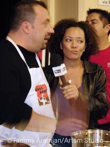 TV.com reporter interviews a competitor