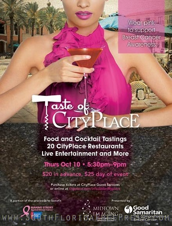 Food and Cocktail Tastings at City Place