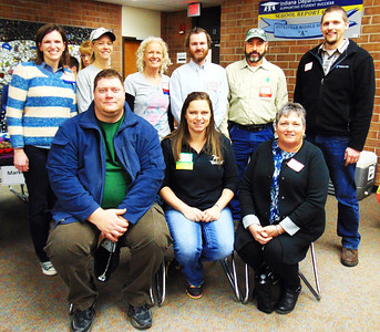 Debbie Blank | The Herald-Tribune Southeastern Indiana Farmer Training Initiative students (front row from left) Tony Schneider, Batesville; Jessica Patrick, Metamora; and Tracy Jaeger, Liberty, attend the Food and Growers Association Winter Conference Feb. 4 along with (back row) SIFTI steering team members Katie Sparks, Diane Dierckman and Kathy Cooley; SIFTI program director Nate Brownlee; farmer-mentor Matt Nobbe and Josh Werner, the brother of student Chris Werner. Students Greg Phelps, Sunman; Leron Giesting and Chris Werner, Batesville, are not pictured.