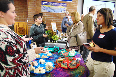 Debbie Blank | The Herald-Tribune A soapmaker was among over a dozen vendors selling produce, foods and equipment.