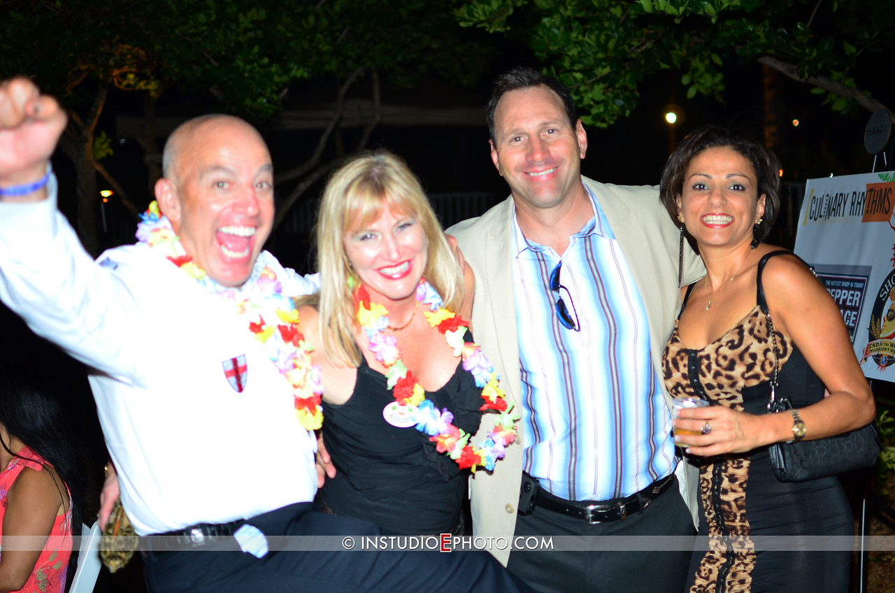 Dr. Michael Kanter, Todd's sister, Todd Patton & Susana Fays having a blast.