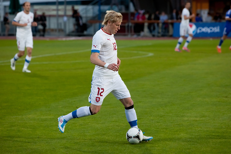 Frantisek Rajtoral in the friendly match against Israel