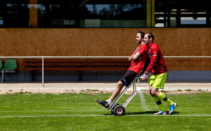 Petr Cech at T-Mobile Football Shoot 2012