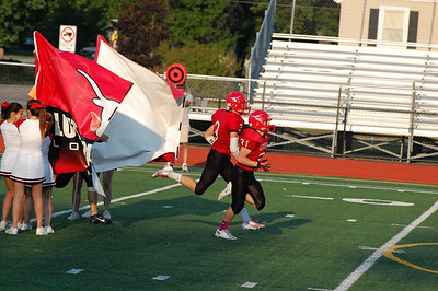 Lutheran West Longhorns first home football game of the 2013 season vs. Firelands. Photo credit: Carol Mueller