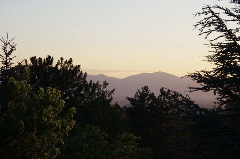 Evening view from the deck