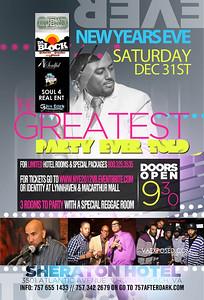 """""""We live 4 the nights that we can't remember With the people that we won't forget""""   THIS SATURDAY #NEWYEARSEVE 2012 """"THE GREATEST PARTY EVER TOLD"""" @ THE LUXURIOUS """"OCEAN FRONT SHERATON HOTEL.. 