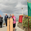 "Cllr Sally Mulready unveils ""Forgotten Irish"" Commemorative Plaque on the East Pier in Dún Laoghaire Tuesday 15 May 2012 at 1pm. Photograph Margaret Brown"