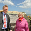 "Cllr Sally Mulready unveils ""Forgotten Irish"" Commemorative Plaque on the East Pier in Dún Laoghaire Tuesday 15 May 2012 at 1pm. An Cathaoirleach Cllr John Bailey welcomed everyone to the event. Image features Mr Sean Costello, Chairman, Dún Laoghaire Harbour Company and Cllr Sally Mulready, member of the Irish Council of State. Photograph Margaret Brown"