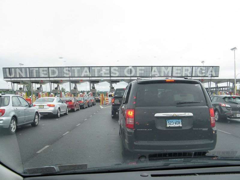 Lined up at the US border ready to enter New York. Did 4 states and 1 province in a day.