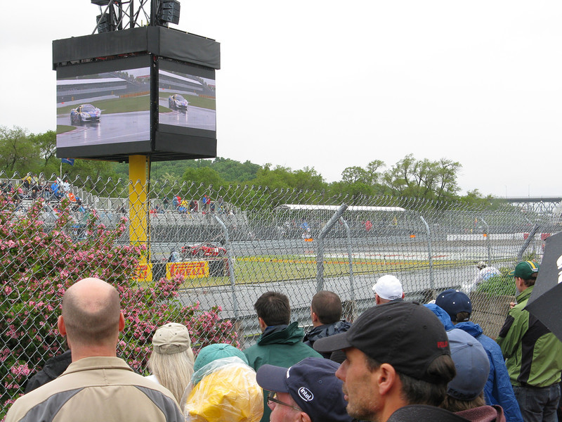 Hard to get a good view of the cars coming around the turn.