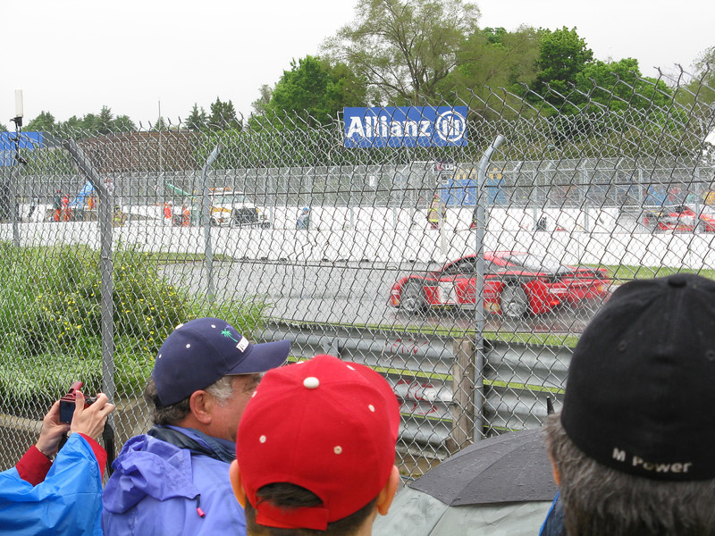 Very close to the track with a General Admission ticket, but standing room only.
