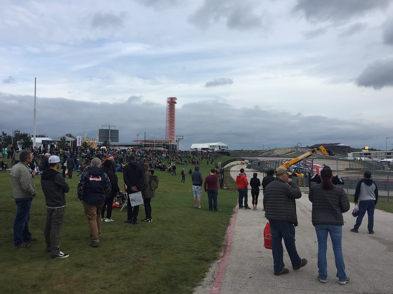 Skies were just starting to clear up as we left the circuit on Saturday.