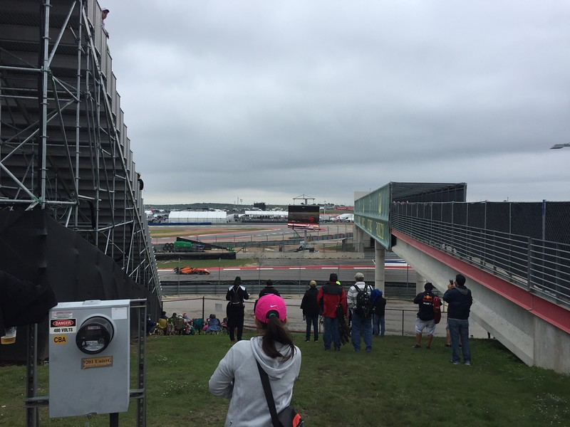 We headed over the Rolex bridge to the infield as the F4 cars were running practice.