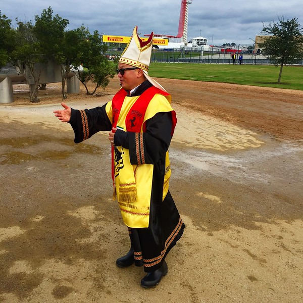 We found the #ferraripope, Pope Enzo!