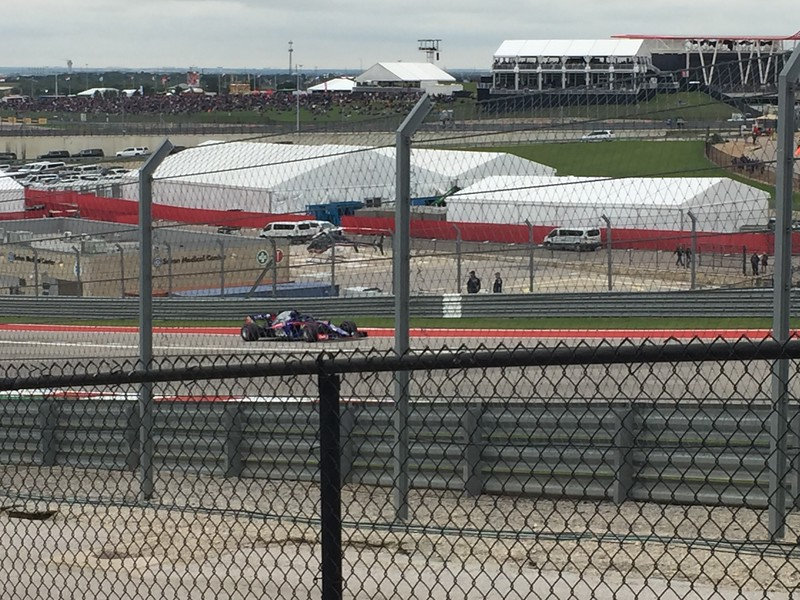 Toro Rosso was the first team to go out for qualifying in Q1.