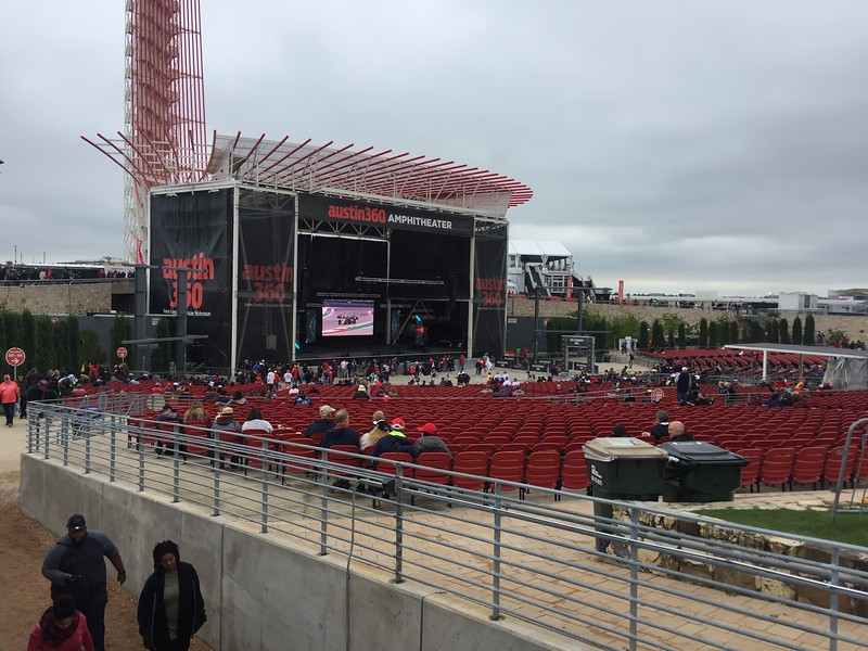 The amphitheater where Bruno Mars and Brittney Spears were going to play on the weekend.