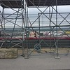 Scaffolding for photographers at the top of Turn 1.