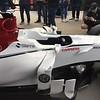 Sauber display car in the Alfa Romeo tent.