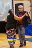 Annie Metatawabin dancing with Charlie Angus