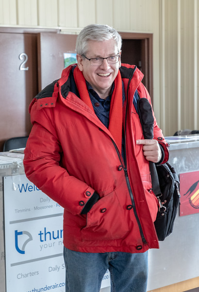 Charlie Angus arrives in Fort Albany