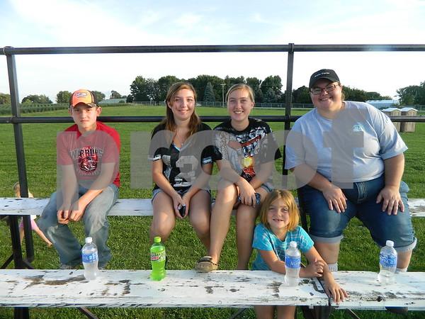Right to left: Yvanne Fehr, Madison Roper, Aubri Roper, Arianna Roper, and Zach Hartig