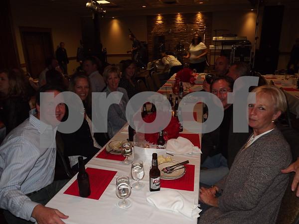 Group of friends eenjoying their dinner.