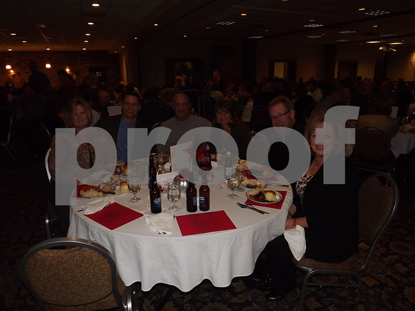 Left to right: Jolene Ronconie, Scott Mcaeen, Mr and Mrs Bice, Tim and Ann Carmody.