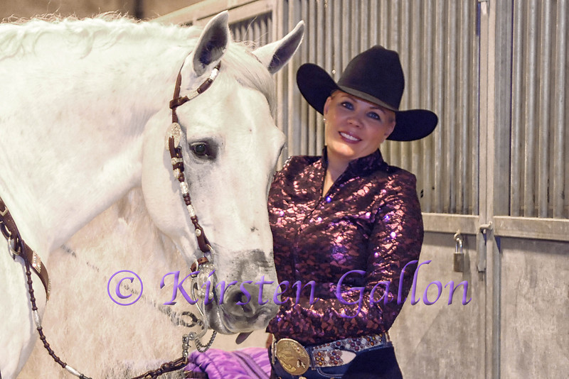 Anna-Leigh Rykhoek and her Andalusian horse Silver Maximus better known as just Max.