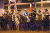 TEXAS HIGH SCHOOL RODEO QUEEN TIANTI CARTER POSES WITH THE SONS OF CONFEDERATE VETERANS BEFORE THE GRAND ENTRANCE