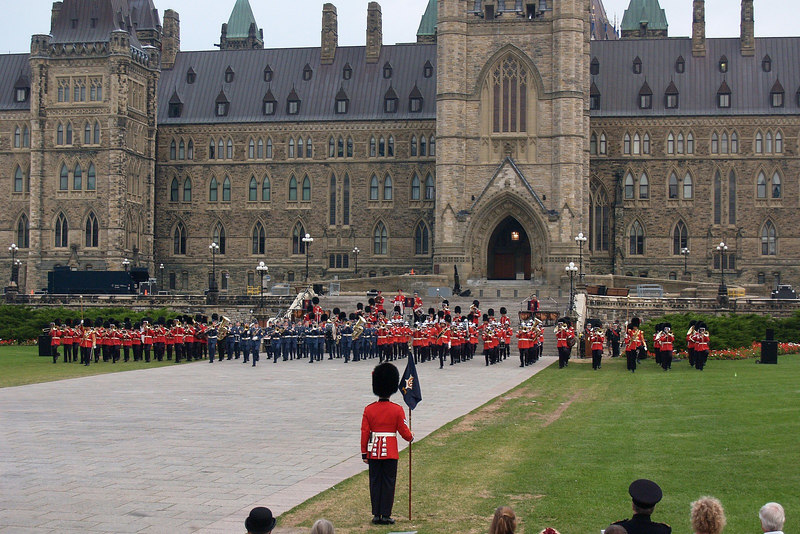 Both Ceremonial Guard Bands, The Central Band of The Canadian Forces and The Land Force Atlantic Area Band.