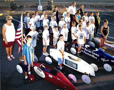 The races allowed local youth to compete in 4-wheeled gravity racing cars on the streets of Fountain Hills.