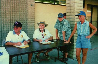 Four Peaks Rotarians man the registration table
